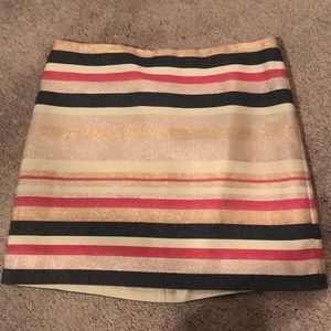 Jcrew striped mini skirt